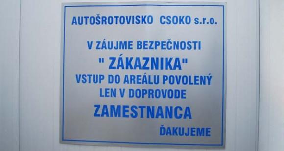 autovrakovisko CSOKO, Pšeničná 8/B, 82106 Bratislava